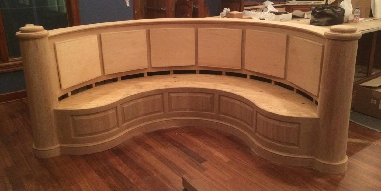 Custom Curved Banquette Seating