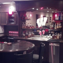 Custom Man Cave Badger Bar