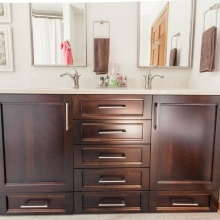 Dark Stained Maple Bathroom Vanity