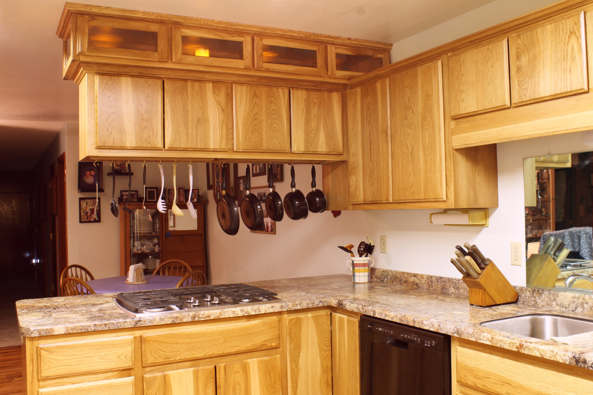 Kitchen for Hickory kitchen cabinets
