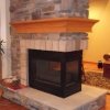 Wraparound Fireplace Mantel