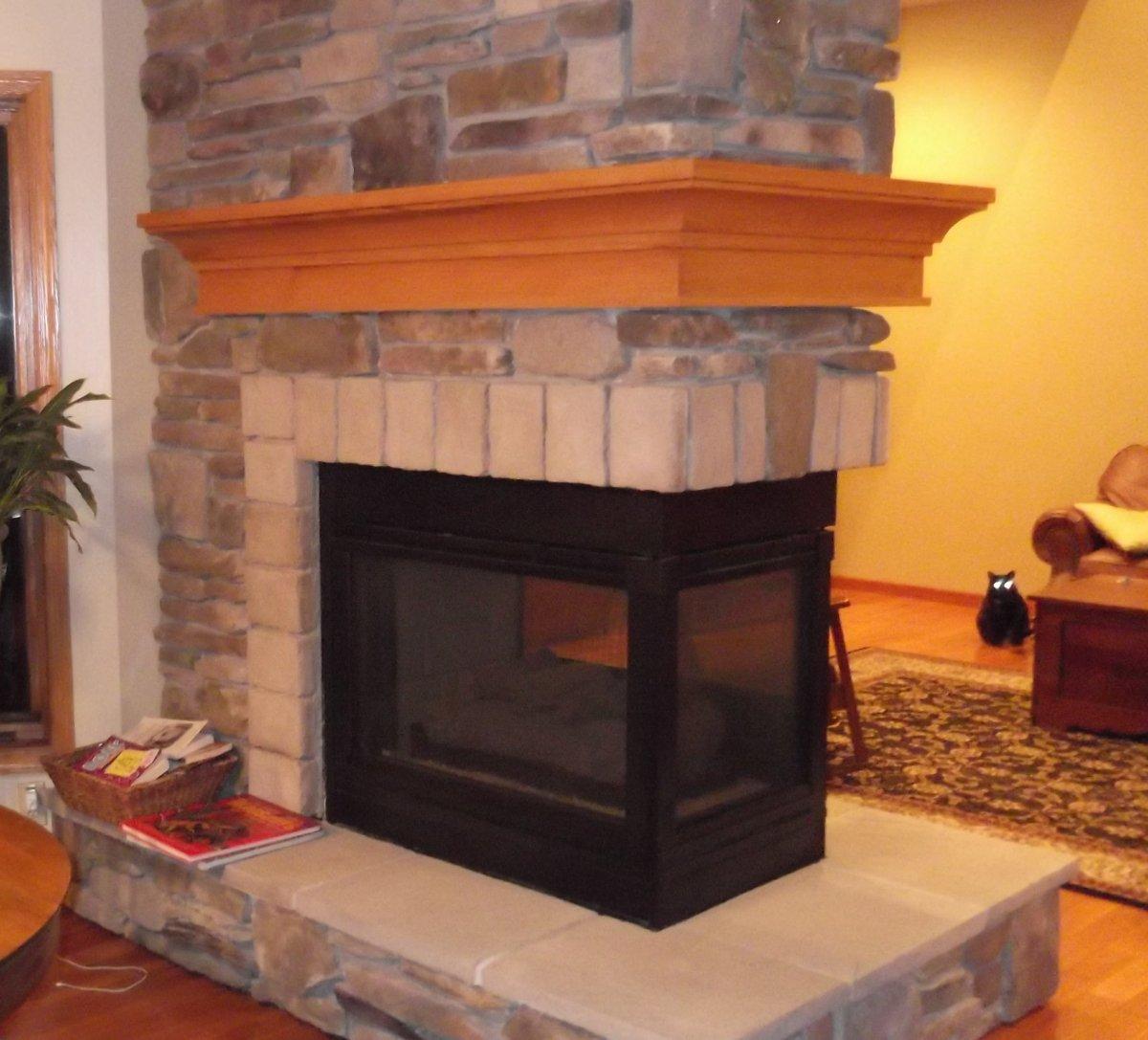 Wraparound Fireplace Mantel